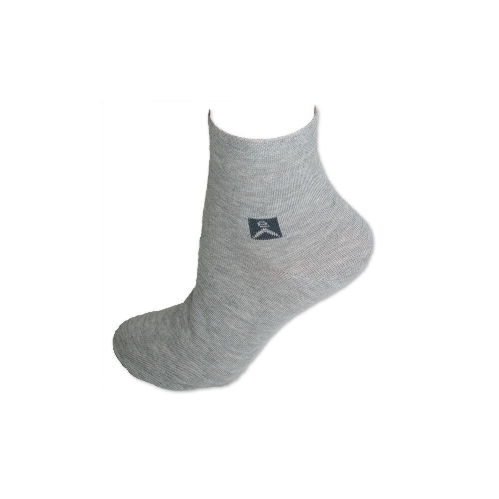 Férfi zokni - pamut rövid állású zokni - 39-42 - szürke - Evidence