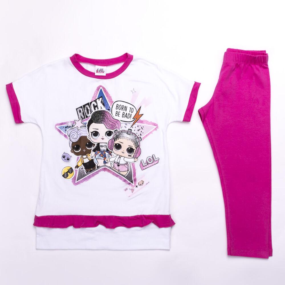LOL Baba Pamut szabadidő gyerekruha szett - rózsaszín-fehér - 140
