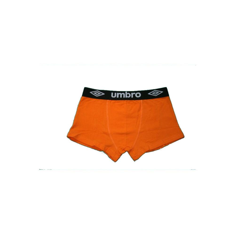 Férfi boxeralsó - pamut - L - narancssárga fekete derékgumival - Umbro