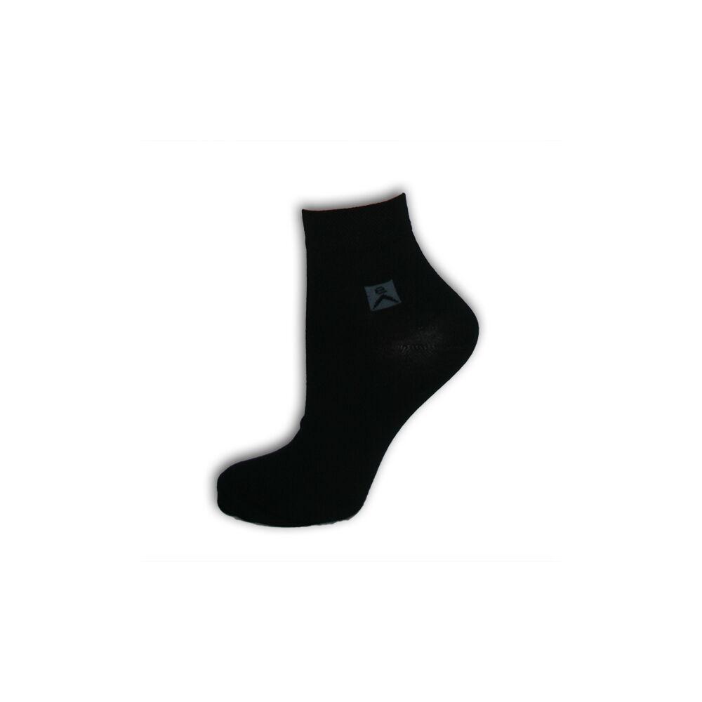 Női és férfi zokni - pamut rövid állású zokni - 43-46 - fekete - Evidence