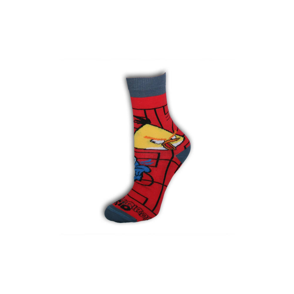Angry Birds gyerek bokazokni - pamut bokazokni - 23-26 - piros